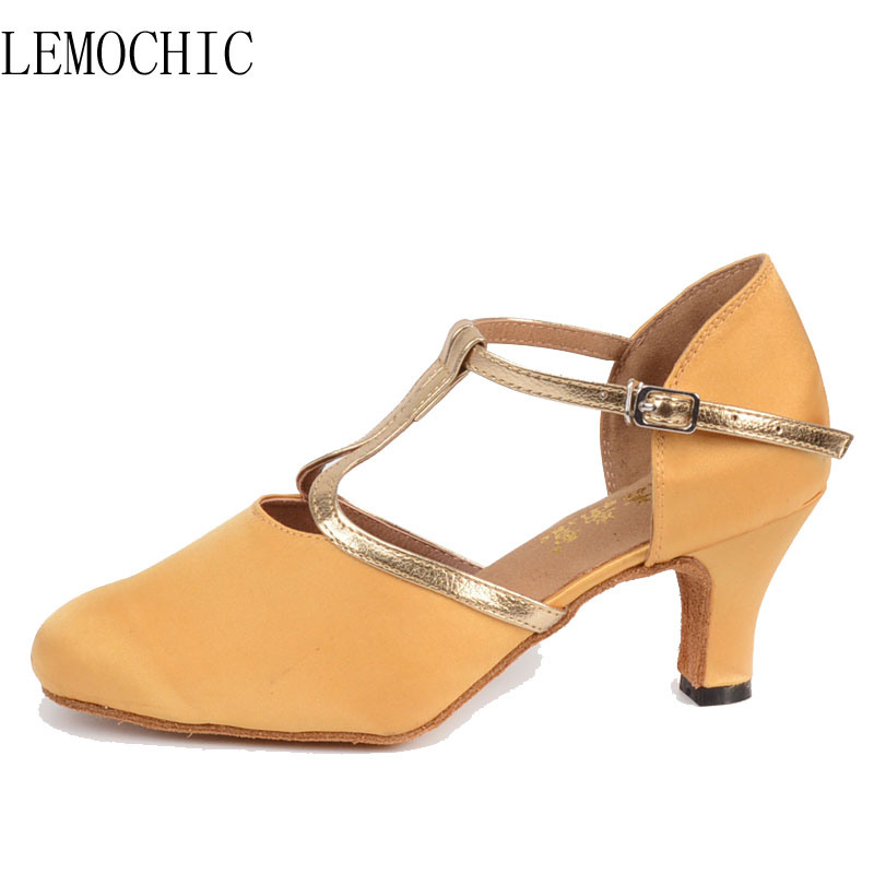 LEMOCHIC ladies new style bally jazz cha cha pole salsa genuine leather rumba samba latin tango ballroom pointe dancing shoes