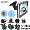 GSPSCN Car Parking Assistance System 5 Inch Rear View Monitor Reversing Car Rear View Camera With