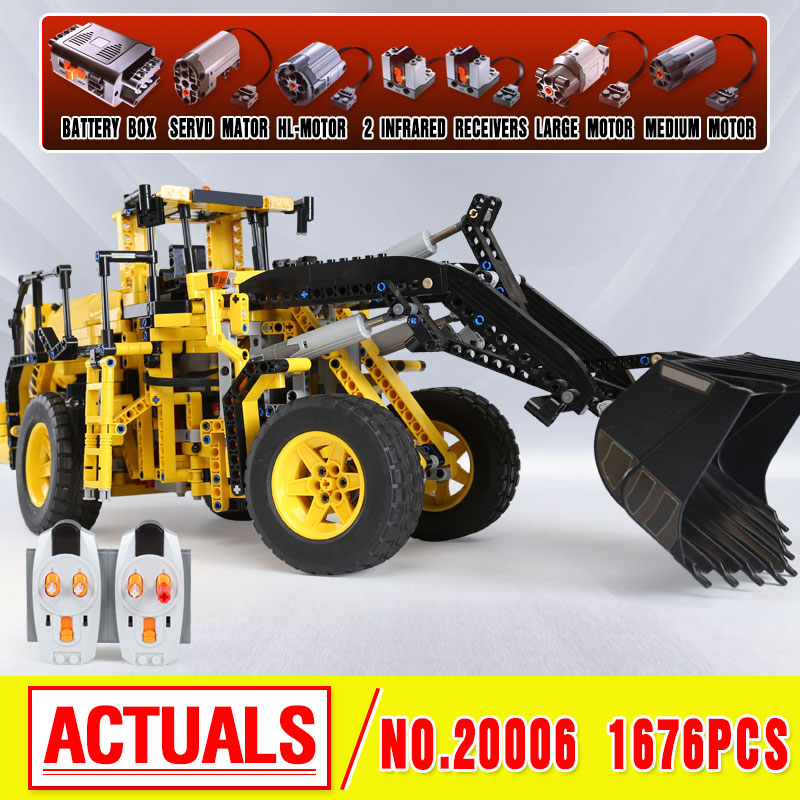 LEPIN 20006 technic series Volvo L350F wheel loader Model Building Blocks Brick Compatible with 42030 birthday christmas Gifts lepin 20006 technic series volvo l350f wheel loader model building kit blocks bricks compatible with toy 42030