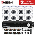 Tmezon AHD 8CH 8pcs 2.0MP 1080P 2.8-12mm CCTV Home Security Surveillance System Waterproof IR Night Vision Camera Alarm Zoom Set