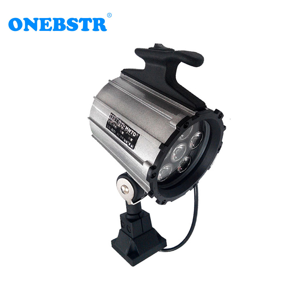 HNTD 6W LED Fold Spotlights AC 220V DC 24V CNC Machine Tools Worklight Equipment IP65 Waterproof Short Arm TD04 free shipping-in 3D Printer Parts & Accessories from Computer & Office