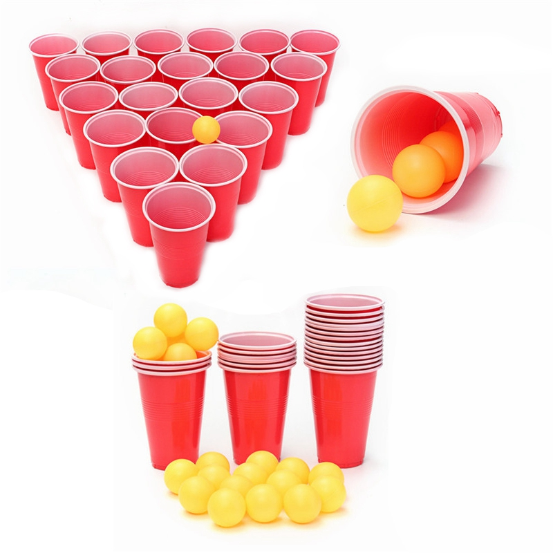 Pong Balls & Cups - Party Beer Pong Fun Kit 17