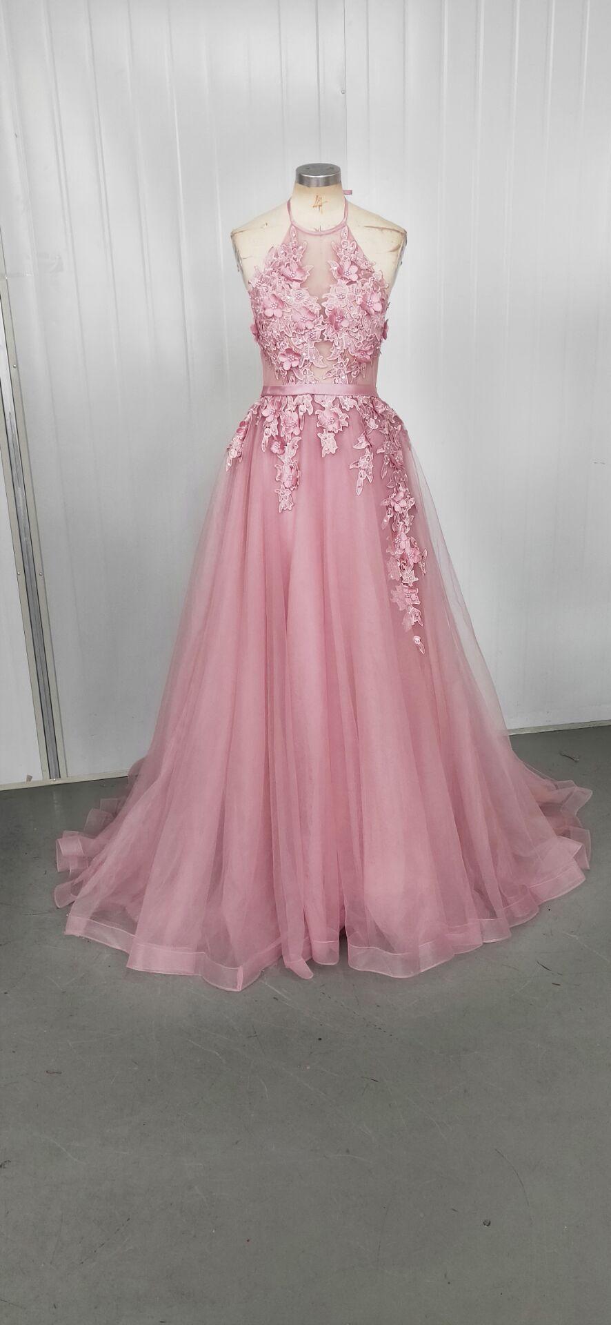 4fe85a2d8 BATA De Soiree apliques Sexy espalda descubierta vestidos largos De noche  Banquete De novia elegante hasta el suelo vestido De fiesta para mujer ...