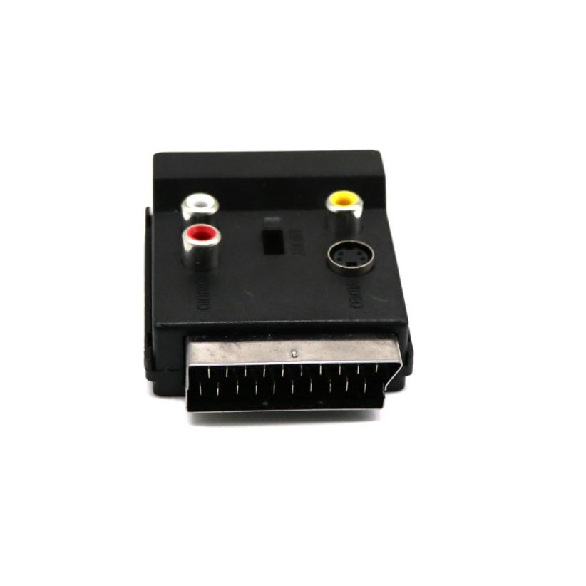 Good Application Switchable SCART Adaptor Plug to Socket with S-Video + 3 RCA Audio Cable Adapter Aug28 s video to 3 rca female adapter cable 20cm