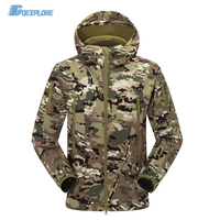 Military Outdoor Tactical Jackets Waterproof Windbreaker Raincoat Hunting Clothes Army Camouflage Softshell Coat For Men