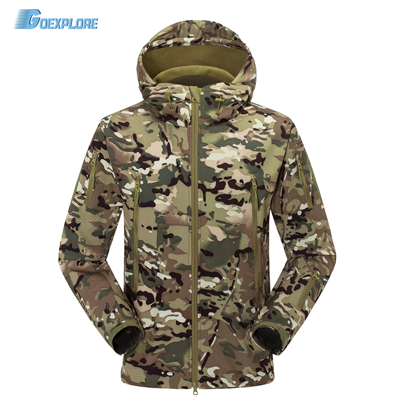 Military Outdoor Tactical Jackets Waterproof Windbreaker Raincoat Hunting Clothes Army Camouflage softshell coat for men hunting jackets waterproof camouflage hoodie men s army military outdoor soft shell tactical jacket military camo army clothing