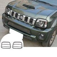Metal Exterior Front Head Light Frame Trim Cover For Suzuki Jimny 2007 2015 2pcs