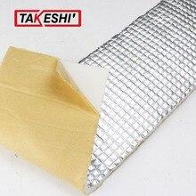 Car Styling 200*100cm Heat Killer Sound Insulation Noise Deadener Self-adhesive Muffler Shield Mat Aluminum Foil Doors/Roof
