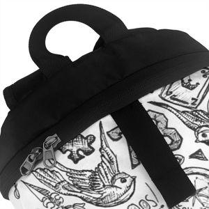 Image 4 - Sac à dos monodirectionnel, tatouage, sacoche sport, imprimé multi poches, pour adolescents, tendance, bonne qualité