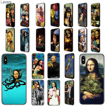 Lavaza Van Gogh Mona Lisa Funny Art Soft TPU Case Cover for Apple iPhone 6 6S 7 8 Plus 5 5S SE X XS MAX XR Silicone Cases babaite van gogh tardis tpu soft silicone phone case cover for apple iphone 8 7 6 6s plus x xs max 5 5s se xr mobile cover