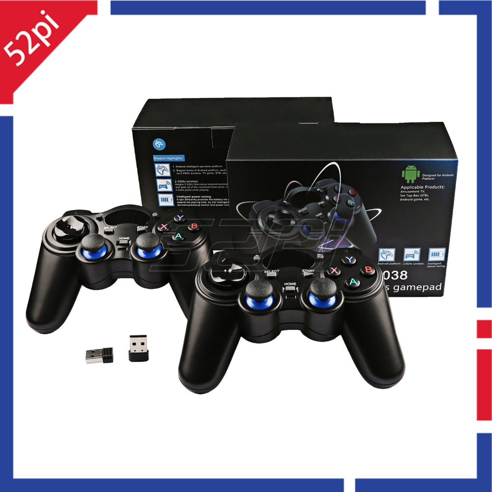 2Pcs/Set! 2.4G Wireless Gamepad Game Controller for PC, Raspberry Pi, RetroPie, Android Smart TV Box, Tablet PC, PS3, NESPi