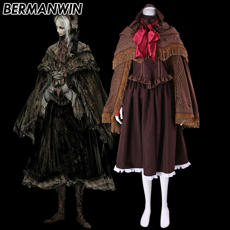 BERMANWIN High Quality Bloodborne The Doll Cosplay Costume Bloodborne Halloween Cosplay Costume for adult women