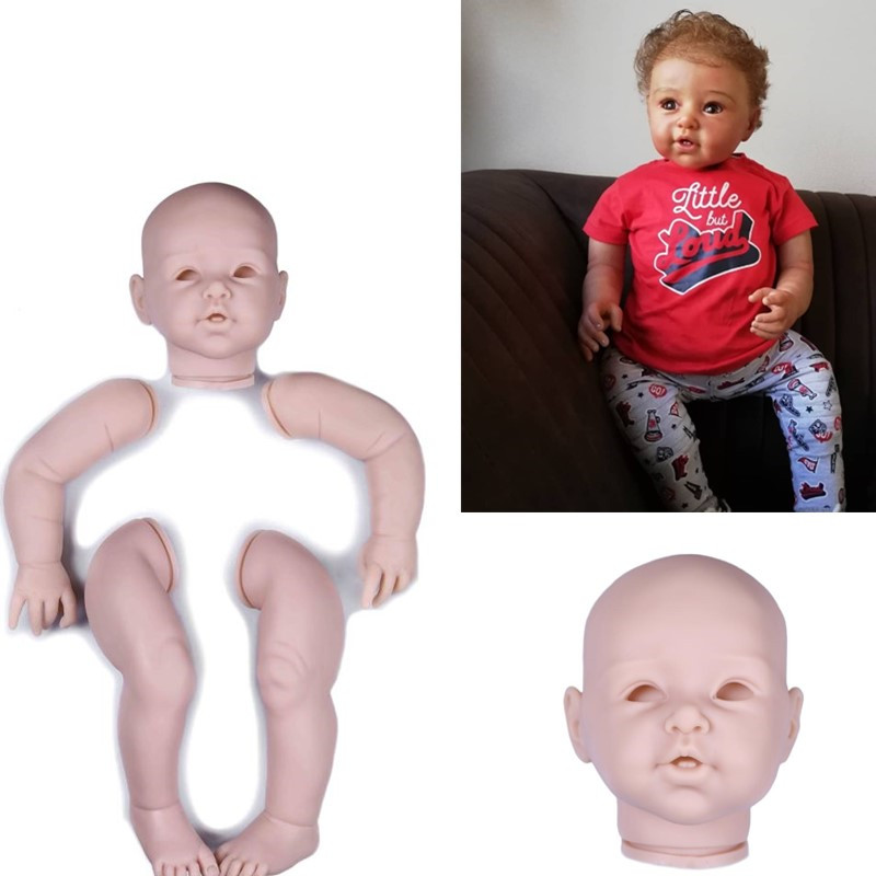 NPK big size 29inch silicone baby dolls kit set Parts Accessory Large Toddler Reborn Kit Full vinyl arms legs 74cm Artist Mould
