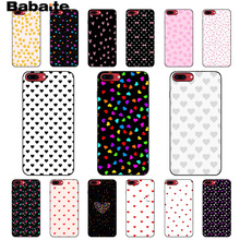Babaite Heart case for mobile phone iPhone 6 6s Plus 7 8 5 5S SE X XR XS. love element style girls woman cover