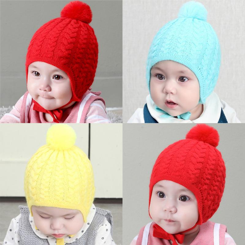 Baby Hat Cotton Beanie Cap Toddler Infant Baby Girls and Boys Knitted Hats For Children Winter Knitted Hat photography props