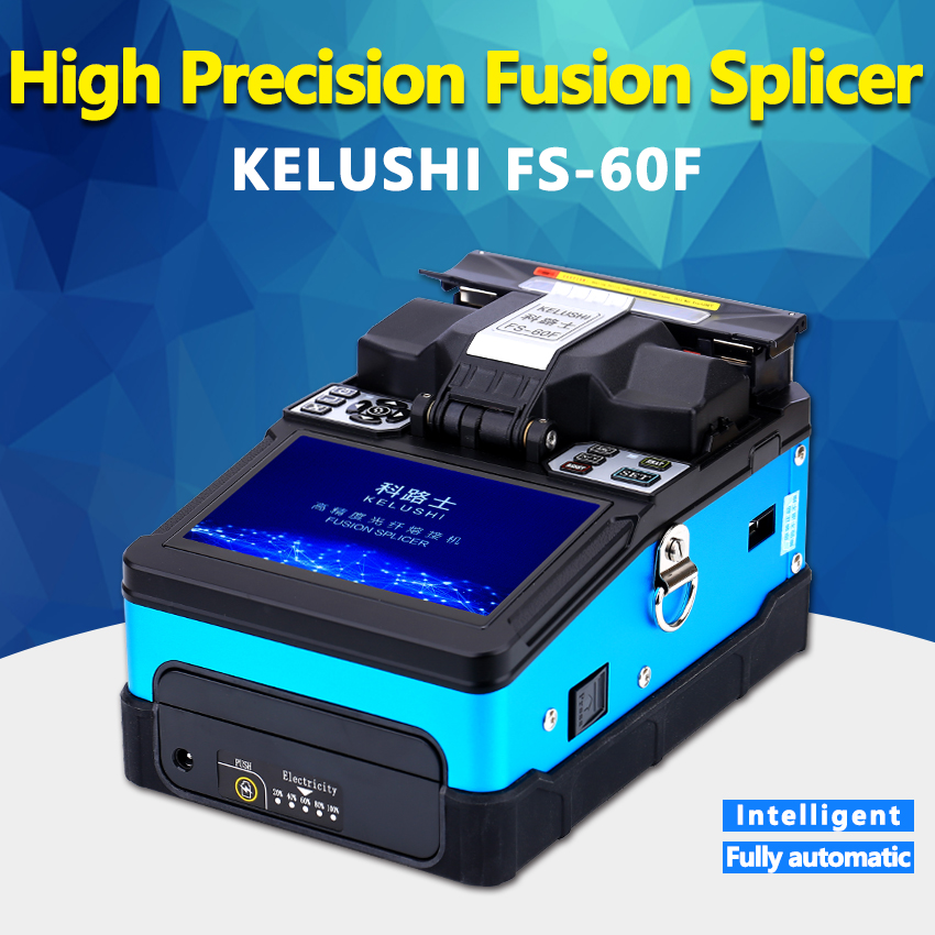 KELUSHI FS-60F Automatic Smart Optical Fiber Fusion Splicer FTTH Optical Fiber Welding Splicing Machine Intelligent