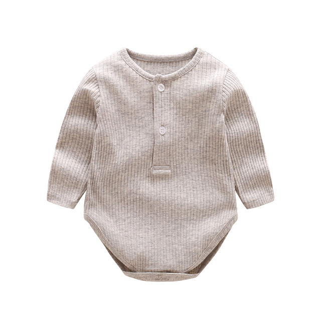 ba380d2cee4 Tiny Cottons Baby Unisex Bodysuits Fashion Candy Color Newborn Girl Onesie  Spring Long Sleeves Toddler Boys Coveralls Kids Body
