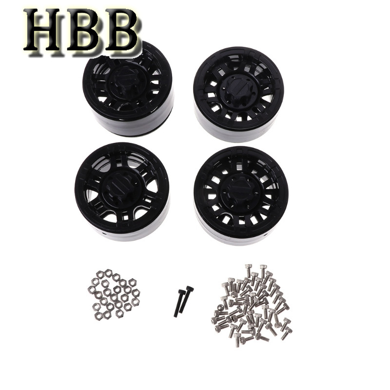 HBB Toys Accessory 4pcs 1.9 inch Wheel Hub Beadlock Wheels Rim for 1:10 RC Rock Crawler Car Parts mxfans 4pcs rc 1 10 rock crawler car black plastic wheel rim