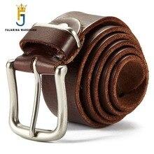 FAJARINA Top Quality Genuine Leather Belts Cowhide Design Metal Pin Buckle Belt for Men Mens Retro Styles 38mm Width N17FJ260