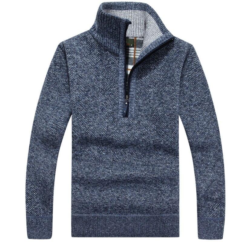 теплый толстый бархат кашемир свитеры для женщин для мужчин зимние пуловеры для женщин на молнии воротник-стойка человек повседневная одежда узор трикотаж размеры большой размер 3XL