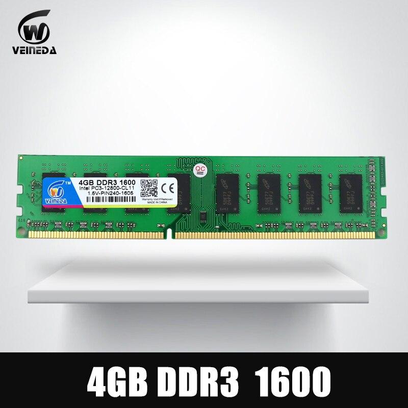 Dimm Ram DDR3 4 gb 1600Mhz ddr 3 4gb PC3-12800 Memoria 240pin for All AMD Intel Desktop