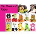 Bebé Almohadas Reposacabezas de coches de Bebé de Coche de Bebé de Viaje Durmiendo Rana León Cabeza de Dibujos Animados Cuello Almohada Fundas Para Asientos de Niño
