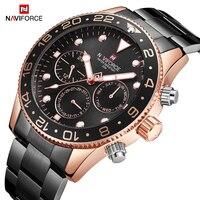 New NAVIFORCE Men's Casual Sport Watch Men Quartz Steel Band Wristwatch Creative Dial Male Clock and Watches Relogio Masculino