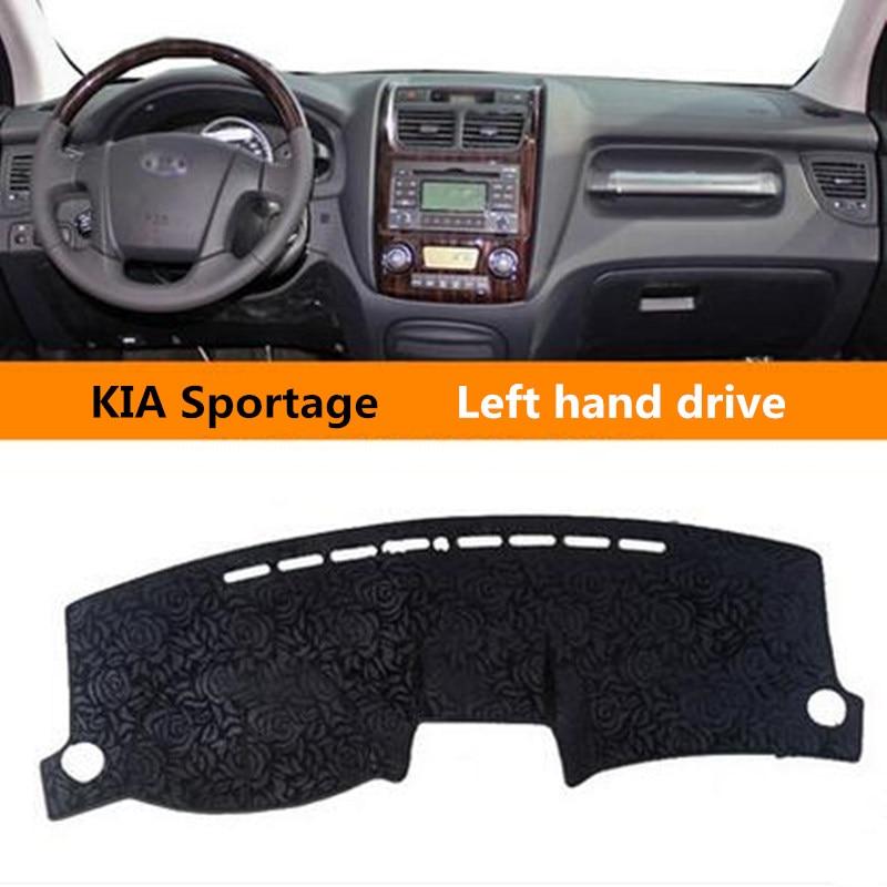 Left hand drive Car sun resistant Protective dashboard cover for Old KIA Auto Non slip dashboard Mat for KIA Sportage 3colors