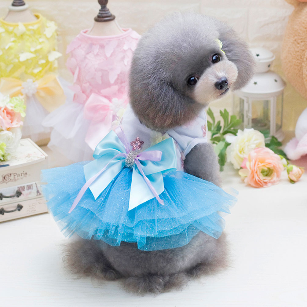 Luxury Dog Dress Princess Pet Dog Clothes for Small Dog Wedding ...