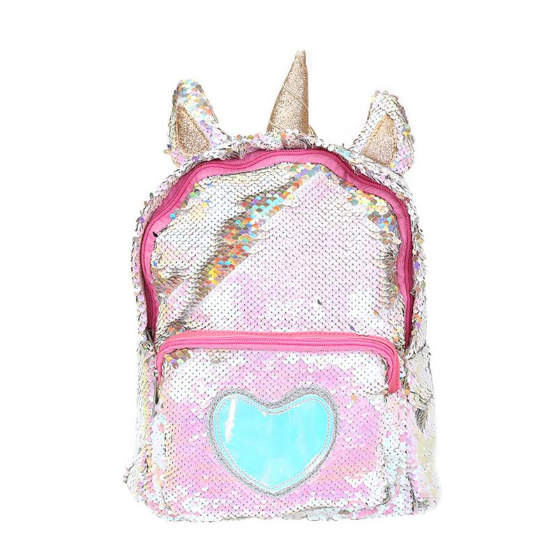 New Sequins Unicorn Backpack Women PU Leather Mini Travel Soft Bag Fashion SchoolBag For Teenager Student Girls Book Bag Satchel new fashion backpack korean women backpack leisure student schoolbag soft pu leather women bag