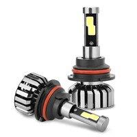 High Quality 2pcs Led Car Headlight H7 H4 80w Hi/Low Light Bulb 9004 9007 9008 8000lm Replace Halogen Automobile Headlamp