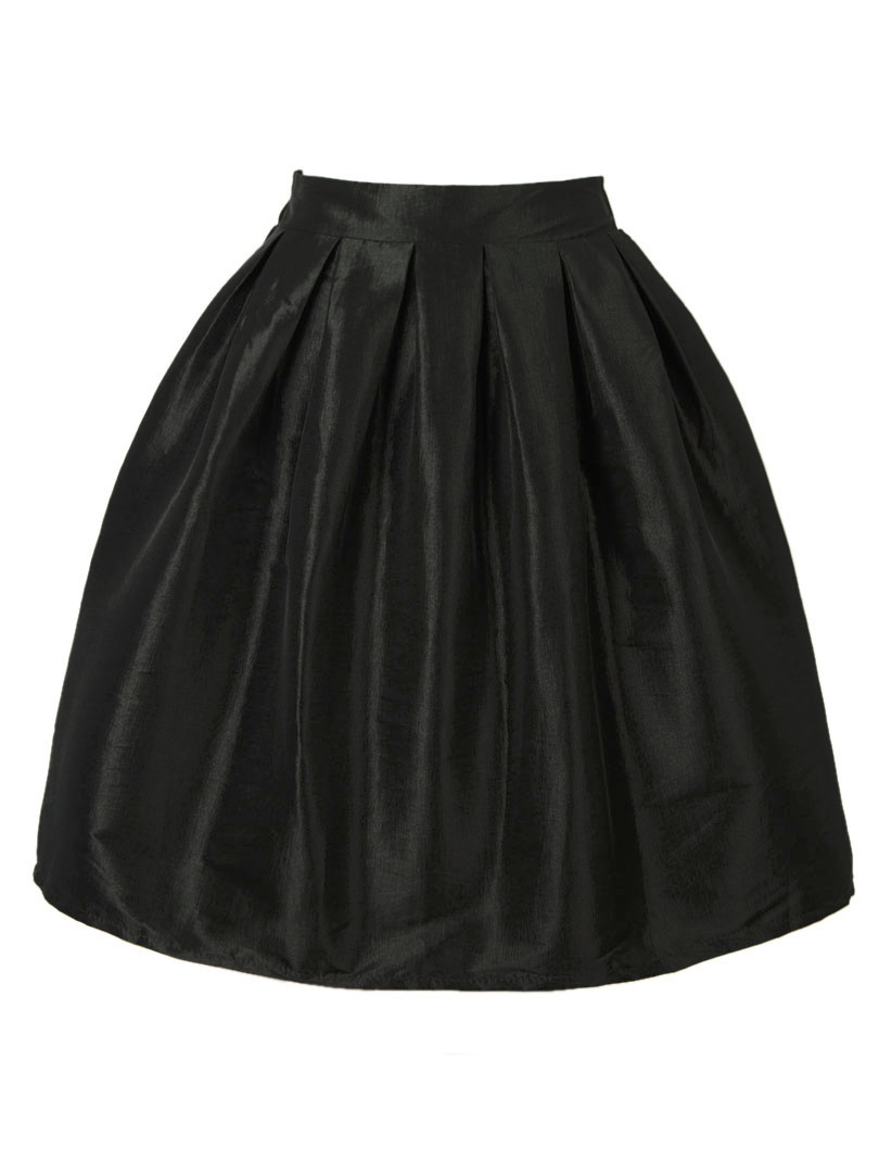 Retro High Waist Pleats Mini A Line Skater Casual Skirt 24 Colors Plus Size Spring Summer New Women Fashion Short Skirts