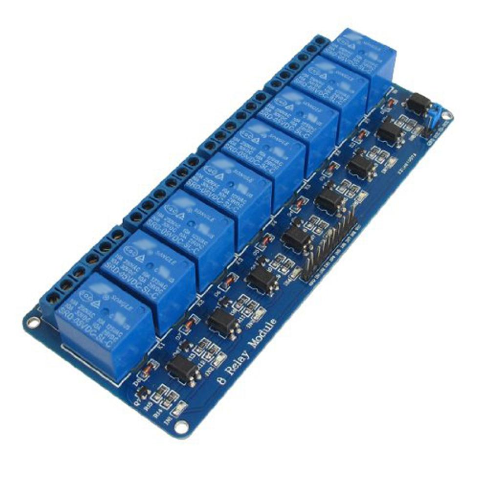 DSHA New Hot Hot Sale 5V Electronic Relay Module 8-Channel Shield for 51 AVR ARM Logic relay shield v2 0 5v 4 channel relay module
