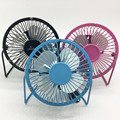 USB Fan Portable DC 5V Small Desk 4 Blades Cooler Cooling Fan USB Mini Fans Operation Super Mute Silent 2.5W