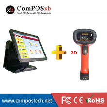 Hot-selling 15 inch pos computer terminal all in one pc stand with QR bluetooth barcode scanner for catering