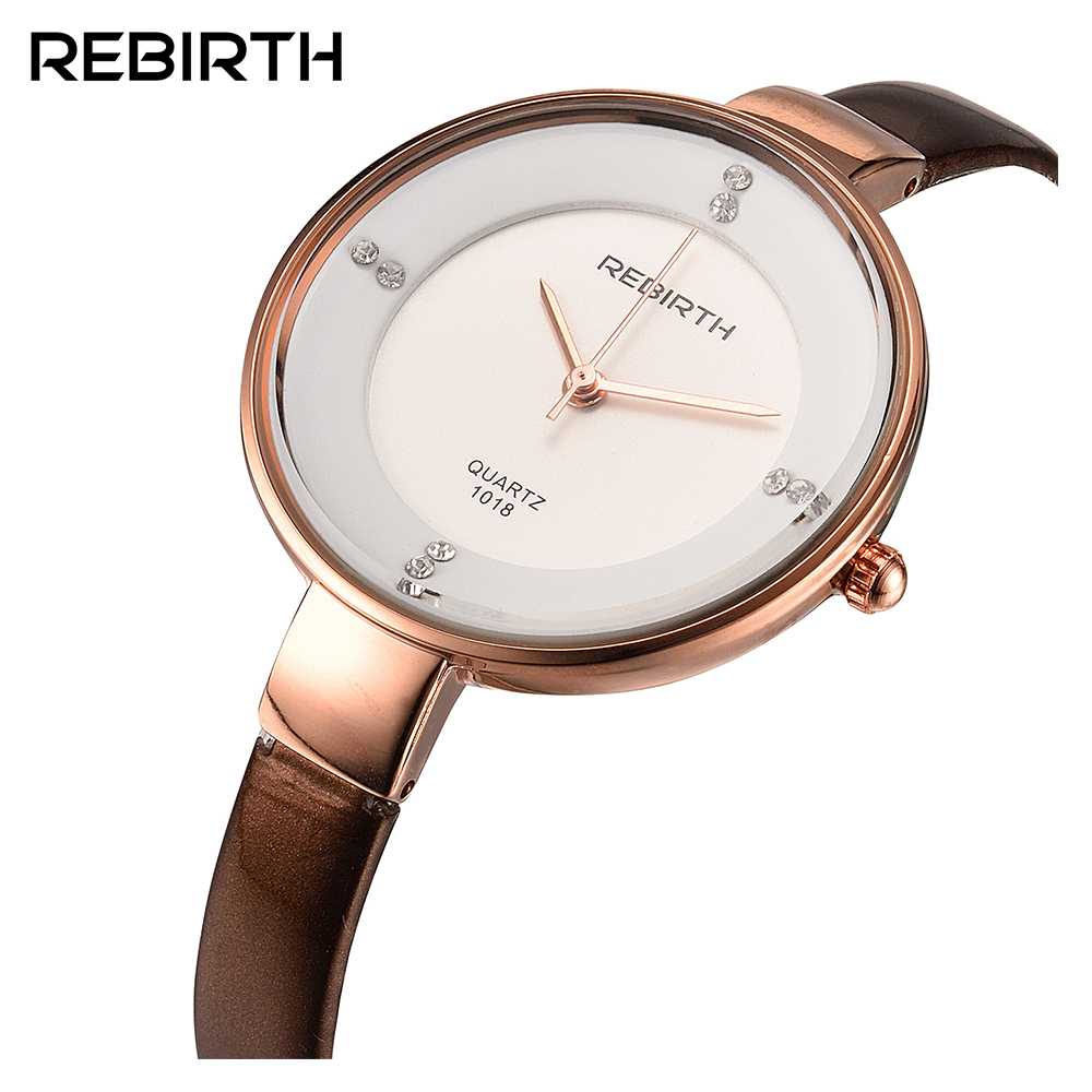 REBIRTH Fashion Women's Quartz Watch Women Lady Luxury Dress clock Elegant Bracelet Wristwatch Gift relogio feminin 001 часы guess w1008l2