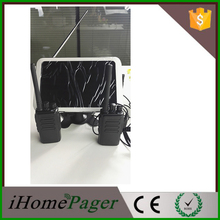 Restaurant calling system paging equipment supplier 20pcs table caller 1 pcs display receiver 10pcs walkie talkie