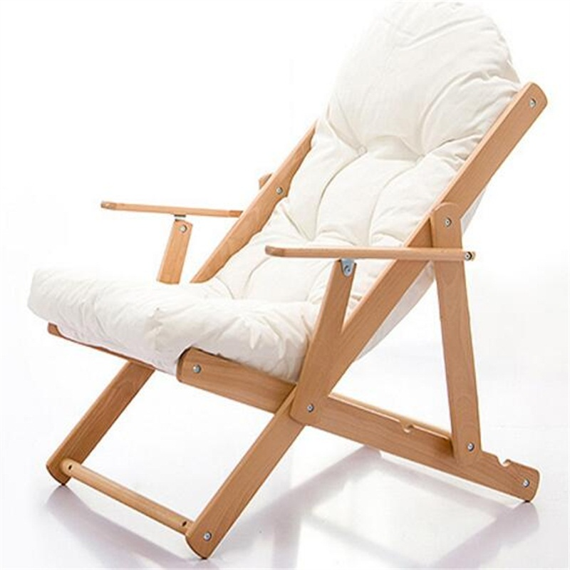 folding chair for living room modern toddler solid wood sofa portable dining outdoor leisure garden with cushion in chaise lounge from furniture on