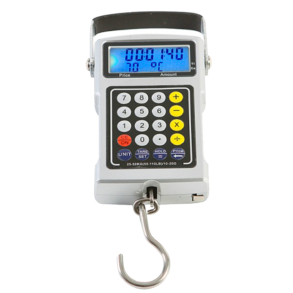 50kg mini digital scale calculator for fishing luggage for Fish weight calculator