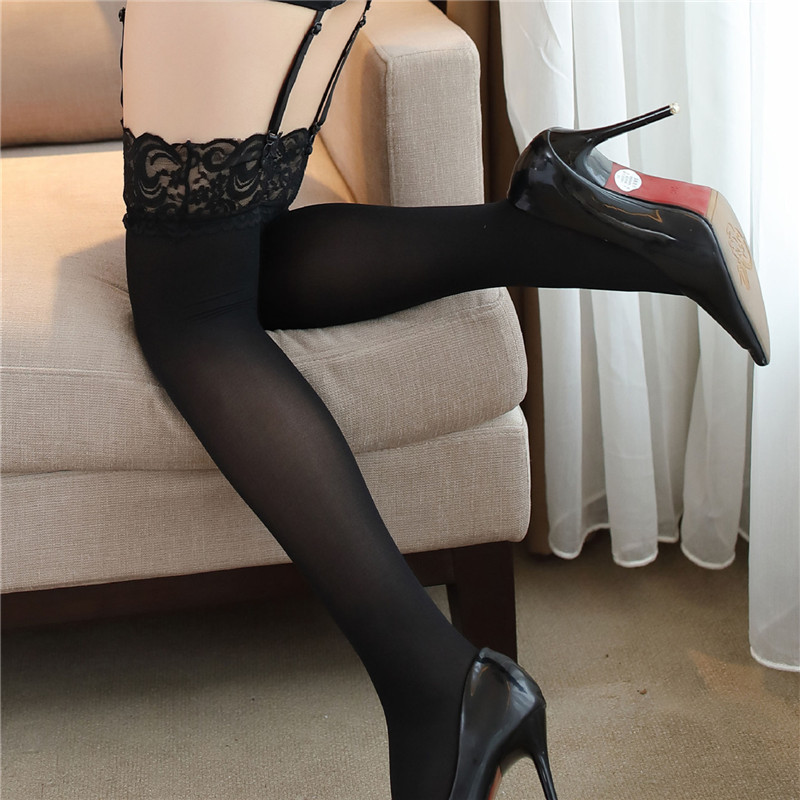 Hot Sexy Lingerie Sheer Lace Sexy Stockings For Women Elastic Transparent Long Nylon Stockings Pantyhose Hosiery For Garters