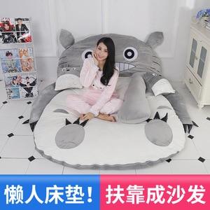 Image 4 - الكرتون فراش Totoro أريكة استرخاء سرير واحد الكرتون الحصير الحصير جميل الإبداعية غرفة نوم صغيرة أريكة سرير كرسي