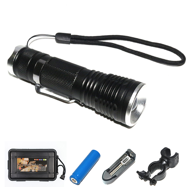 Outdoor archeology explore small troches set black water resistant evening canter flashlight handle clip tactical flashlights