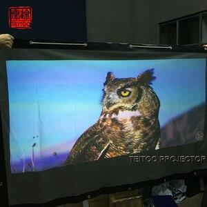 200 дюймов (16,7 футов) 4:3 ПВХ мягкий материал сзади задняя проекционная пленка занавес экран для любого домашнего наружного кинопроектора