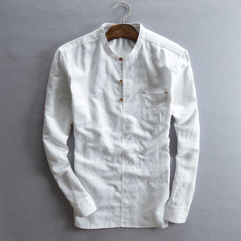 Mens Long Sleeve Henley Shirt