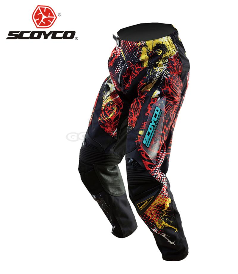 SCOYCO Professional Motorcycle Dirt Bike MTB DH MX Riding Trousers Motocross Off-Road Racing Hip Pads Pants Breathable Clothing free shipping high quality men professional motocross racing pants racetech motorcycle dirt bike mtb dh mx riding trousers