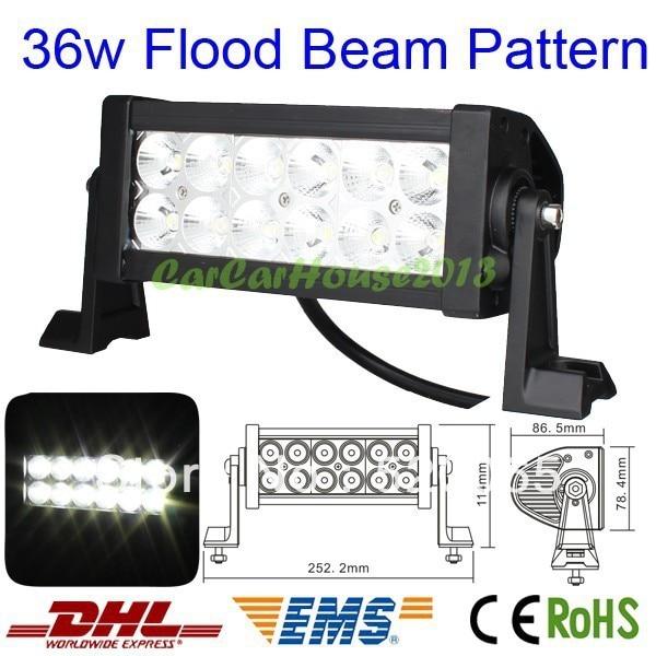 36W LED 7.5inch offroad Work light bar LED Car FLOOD Beam Lamp Truck BOAT SUV 4WD 4X4 ATV UTV MINING CAMPING FREE DHL SHIP