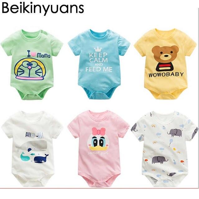 61e103ddd Baby Clothes Coveralls Boy Dresses Newborn Bodysuit Triangle Joker ...