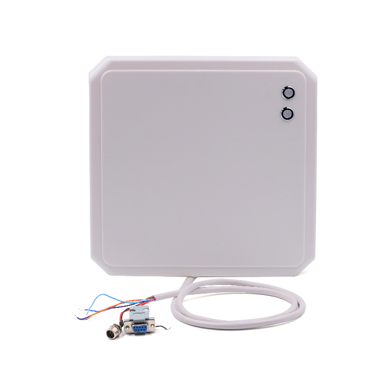 10m uhf rfid reader writer waterproof IP65 led light with RS232 WG26 RS485 interface for parking and warehouse management