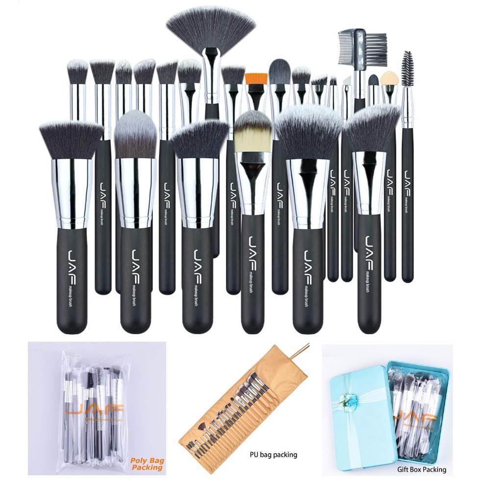 24pcs Professional Makeup Brush Set Kit Tools for Eye Eyeliner Eyeshadow Eyebrow Face Foundation Powder Liquid Cream Blending free shipping 3 pp eyeliner liquid empty pipe pointed thin liquid eyeliner colour makeup tools lfrosted silver