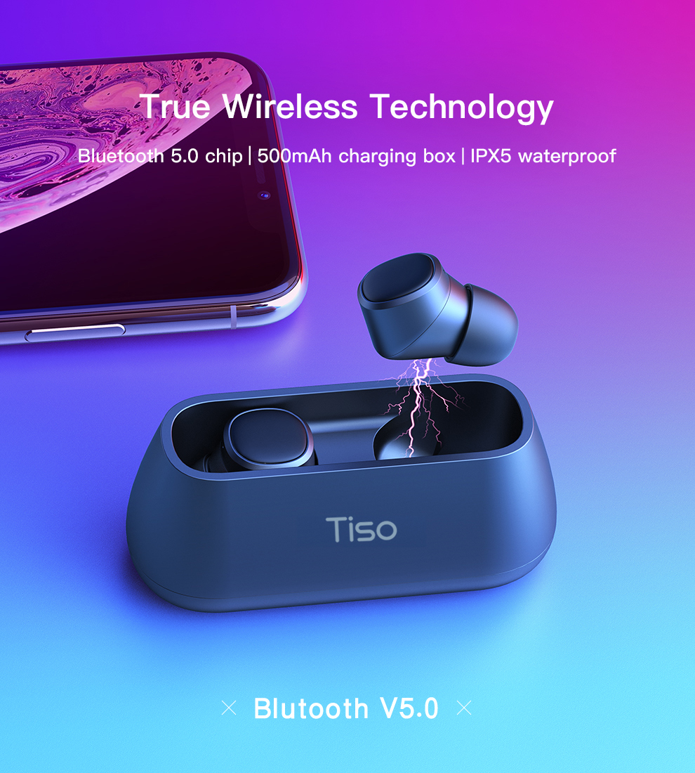 HTB1KO5SJAPoK1RjSZKbq6x1IXXaZ Tiso i4 Bluetooth 5.0 earphones TWS true wireless stereo 3D headphone sports IPX5 waterproof headset with dual microphone